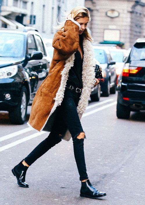 Mode in new york, the sartorialist, street fashion, fashion week, fur clothing, boho chic, new york
