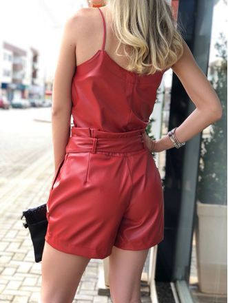 Maroon and red outfit ideas with cocktail dress, leather skirt, trousers, leather