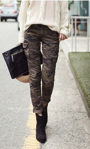 Khaki and brown vogue ideas with cargo pants, trousers, blouse