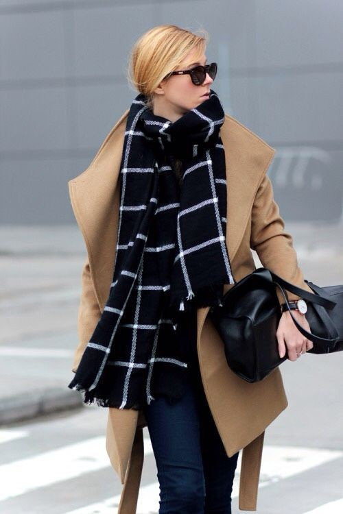Colour dress with overcoat, tartan, coat