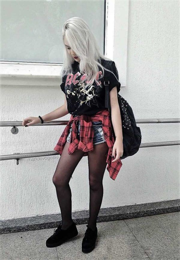 Classy outfit grunge outfit shorts, alternative fashion, brothel creeper, grunge fashion, t shirt