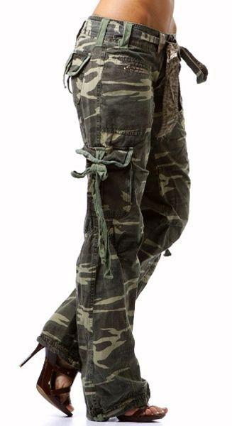 Camo cargo pants for women