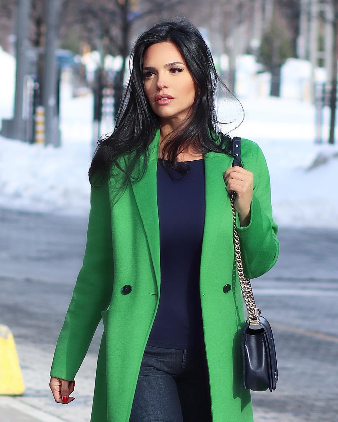 Yellow and green overcoat, jacket, coat