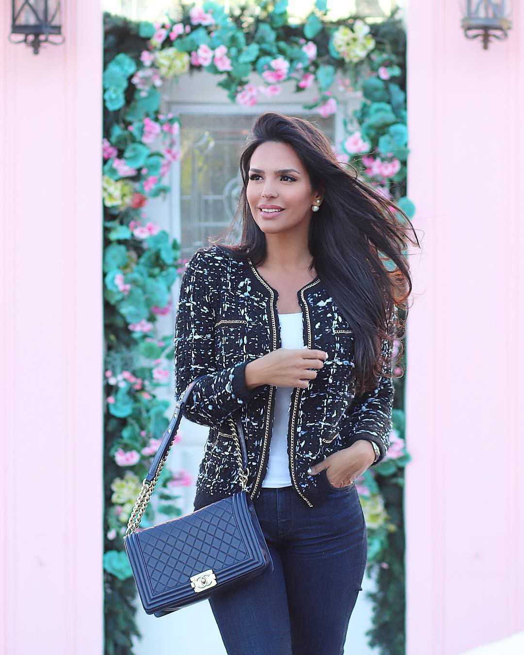 turquoise outfit style with blazer, jacket, denim