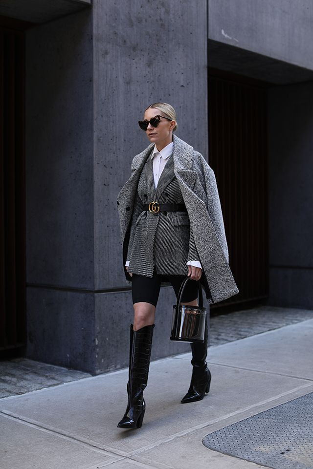 Outfit Pinterest with shorts, coat