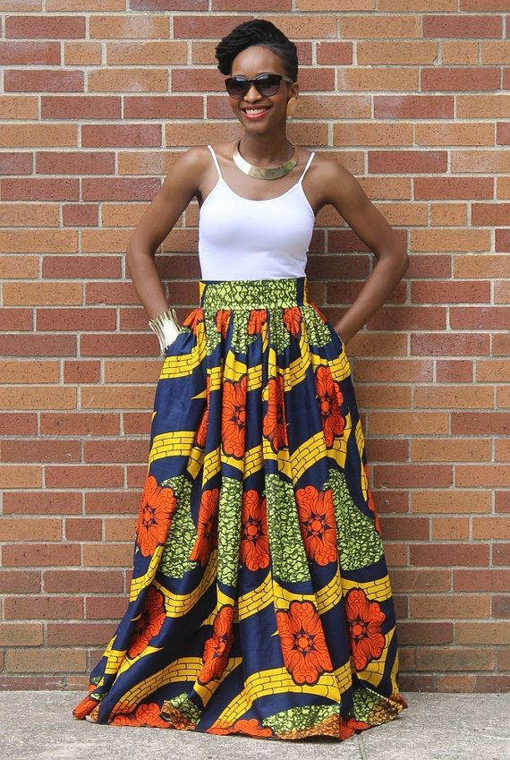 African print designs skirts pleated long skirt, african wax prints