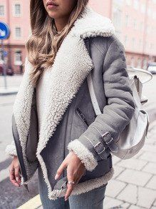 Instagram fashion trendy winter jackets, winter clothing, shearling coat, street fashion, fur cl ...