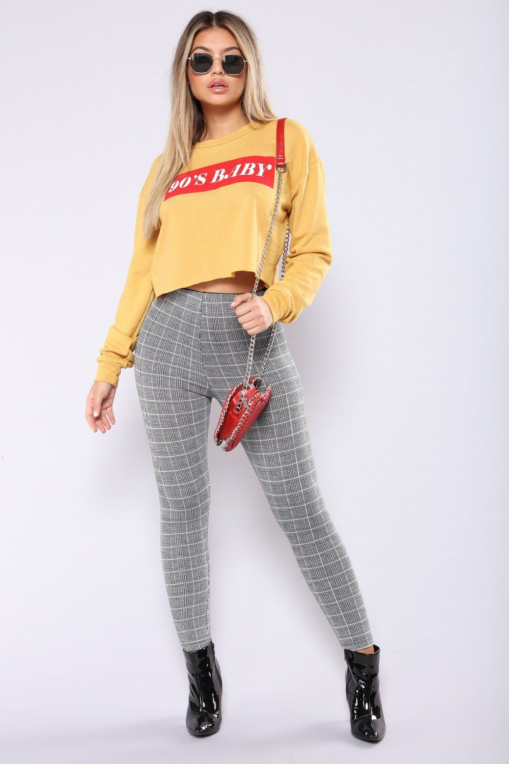 Cute outfits with plaid leggings