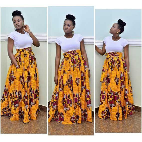 Colour dress african women skirt african wax prints, folk costume