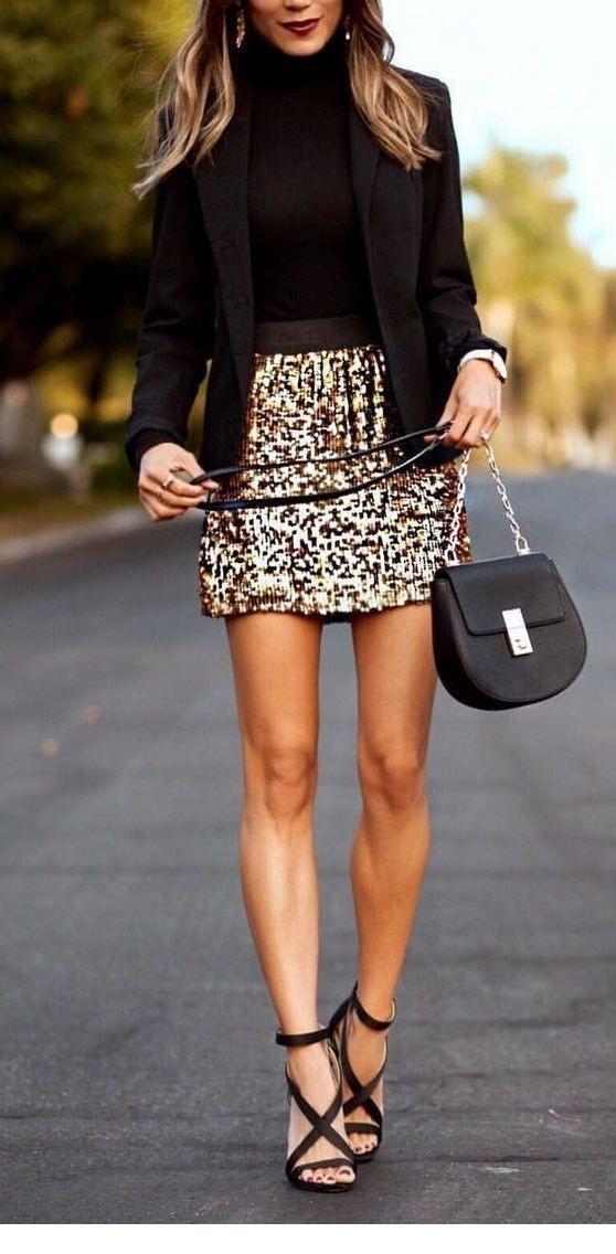 Colour dress glitter skirt outfit, street fashion, pencil skirt, dress shirt