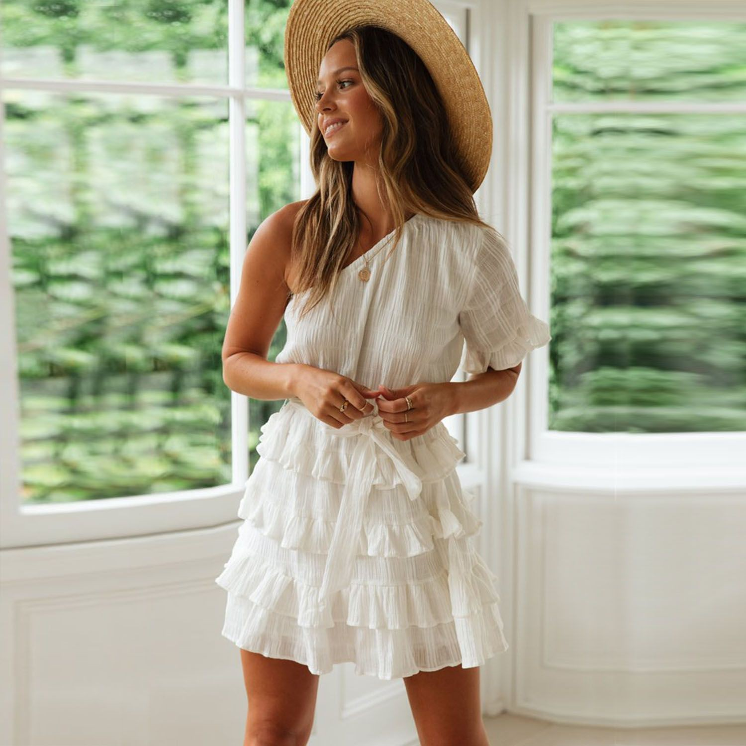 White clothing ideas with cocktail dress