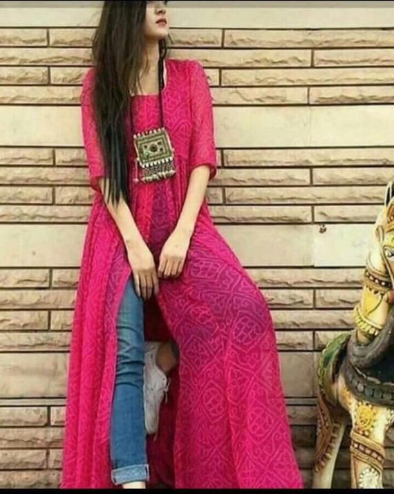 Magenta and maroon style outfit with evening gown, formal wear, jeans, silk