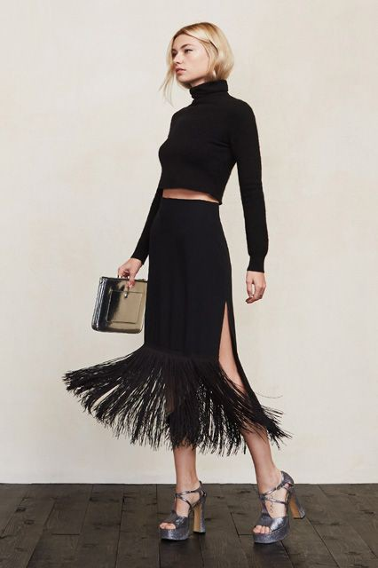 Black colour combination with cocktail dress
