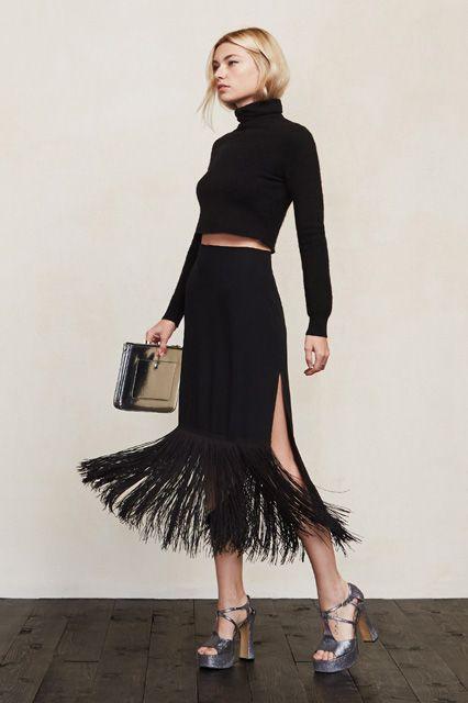 Black colour combination with cocktail dress