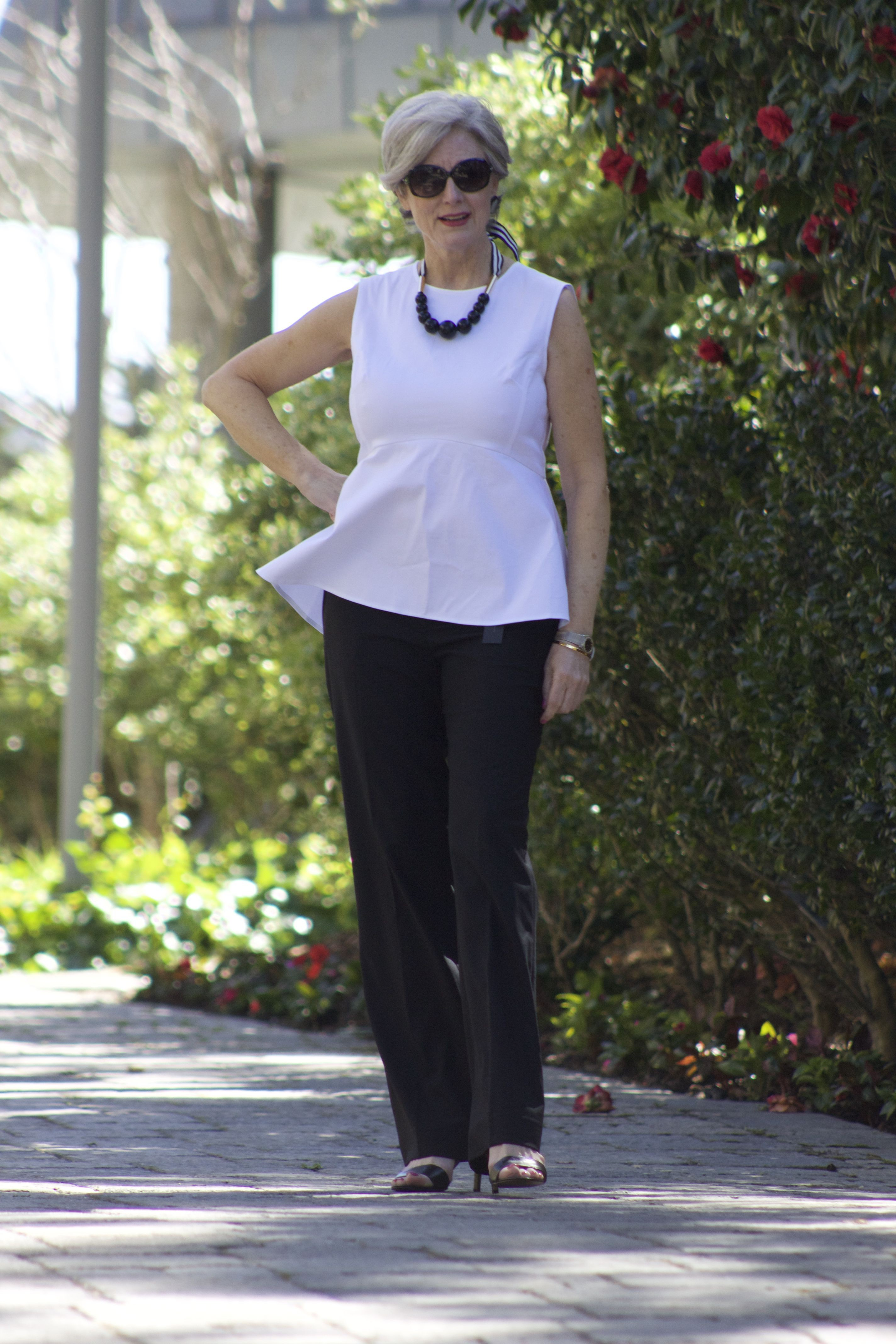 White dresses ideas with trousers, jeans