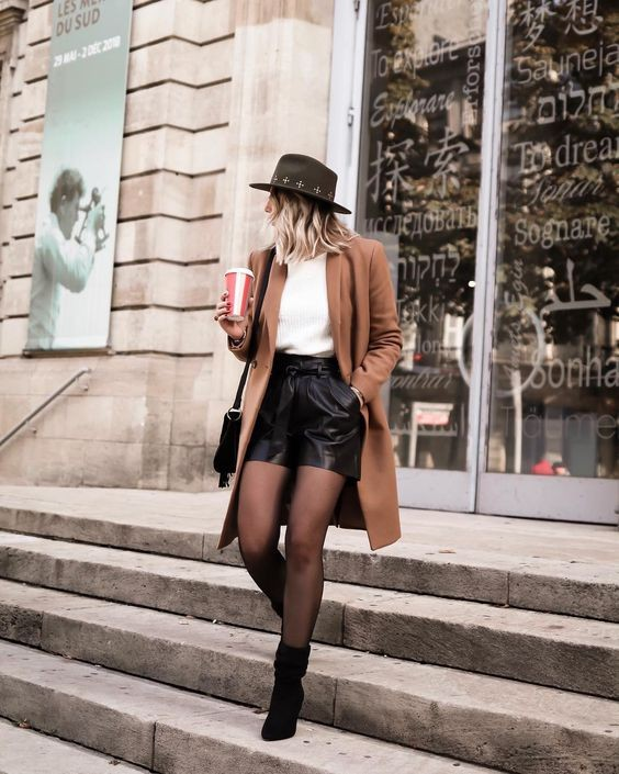 Black colour outfit with shorts, jeans, skirt