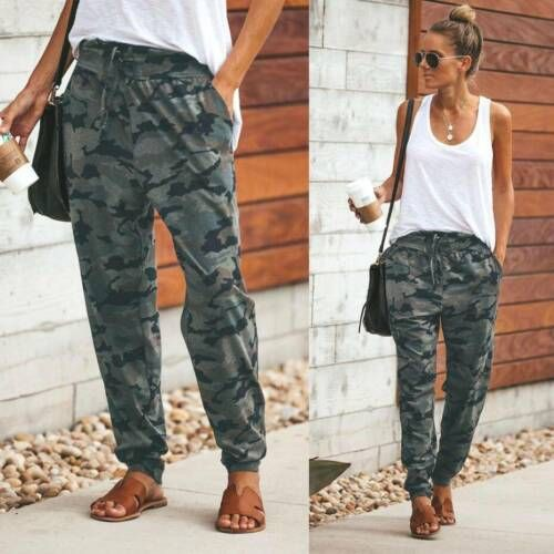 Lookbook fashion camo joggers womens, military camouflage, camouflage joggers, womens pants, cam ...