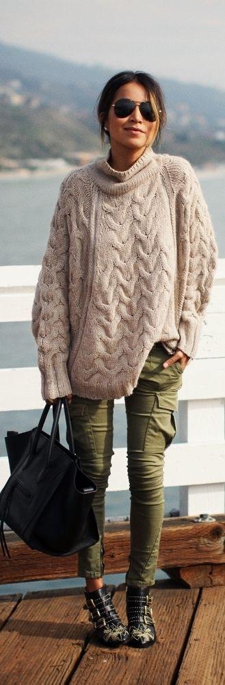 Outfit ideas woman clothing idea, street fashion, cargo pants, casual wear