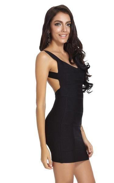 Black outfit instagram with little black dress, backless dress, cocktail dress