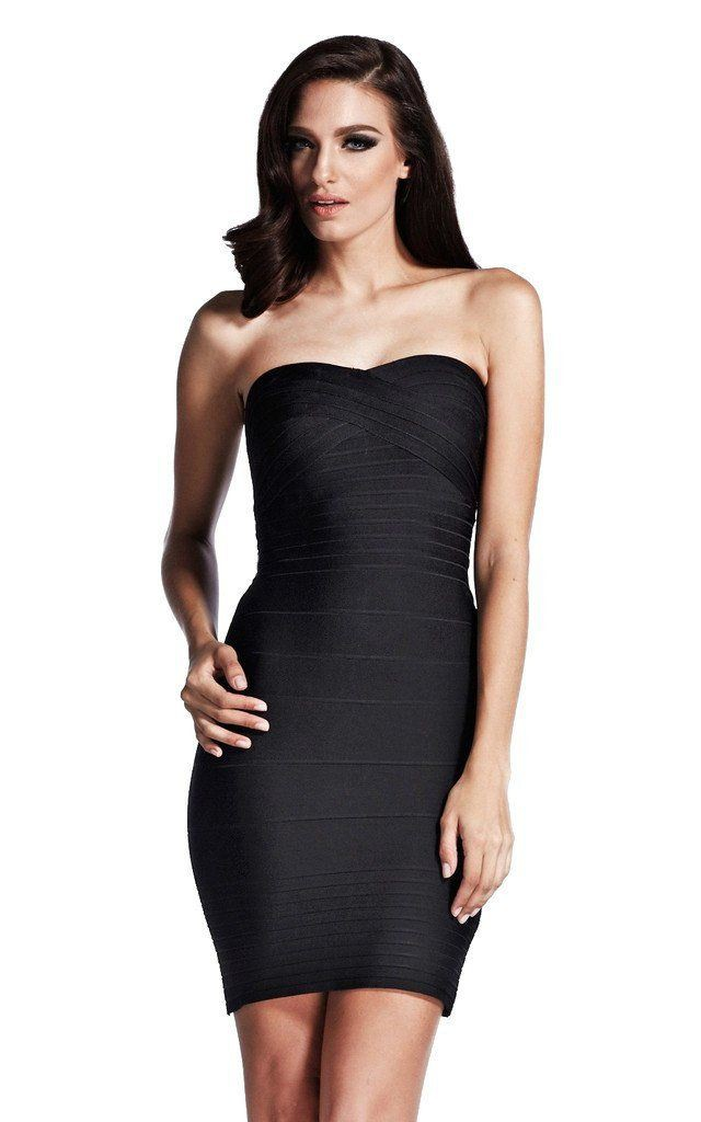 Black bandage strapless dress bandage strapless dress, little black dress