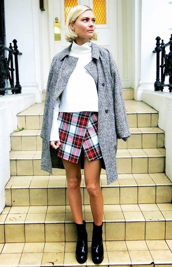 Cute collections with miniskirt, tartan, skirt