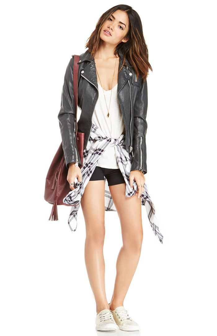 Outfit ideas with leather jacket, sportswear, leather