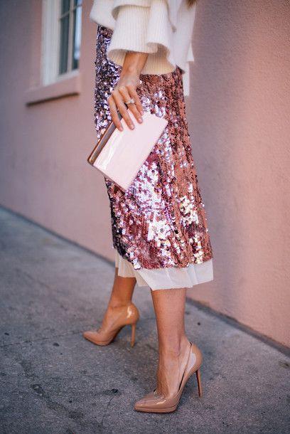 Tory burch sequin skirt tory burch skirt., high heeled shoe