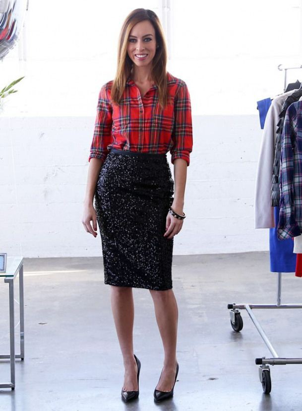 Pencil skirt with flannel, pencil skirt