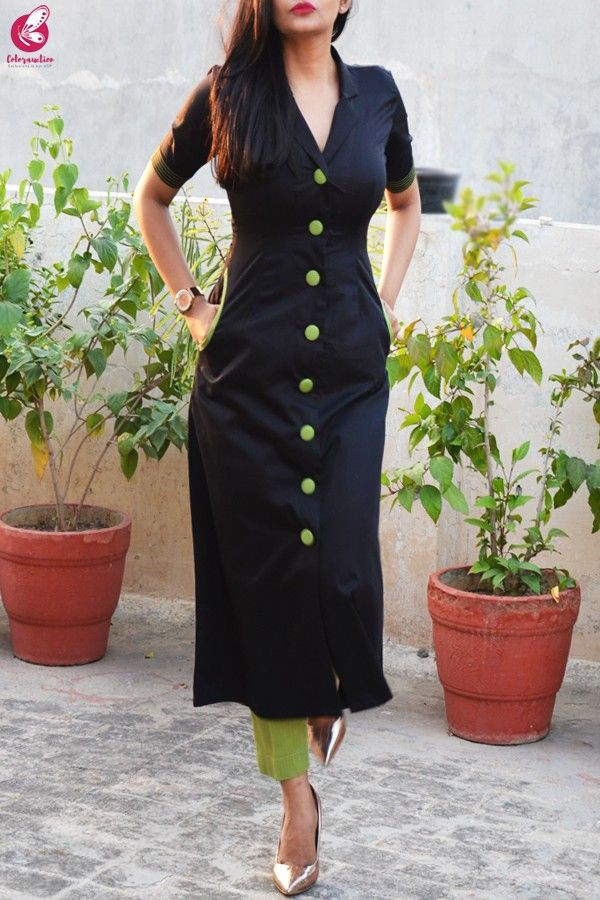 Silk kurti with pants, shalwar kameez, fashion model, green cotton, sheath dress, formal wear, k ...