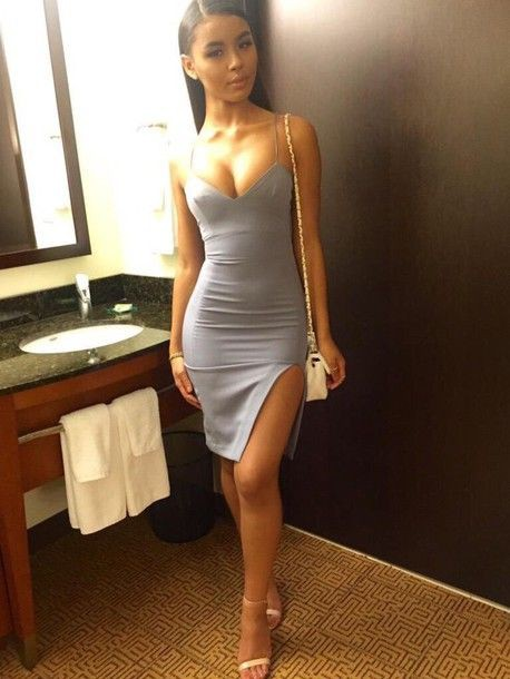 Outfit ideas tight dress sexy, spaghetti strap, strapless dress, cocktail dress, fashion model,  ...