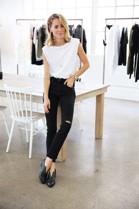 Black and white outfit Pinterest with little black dress, little black dress, trousers, crop top