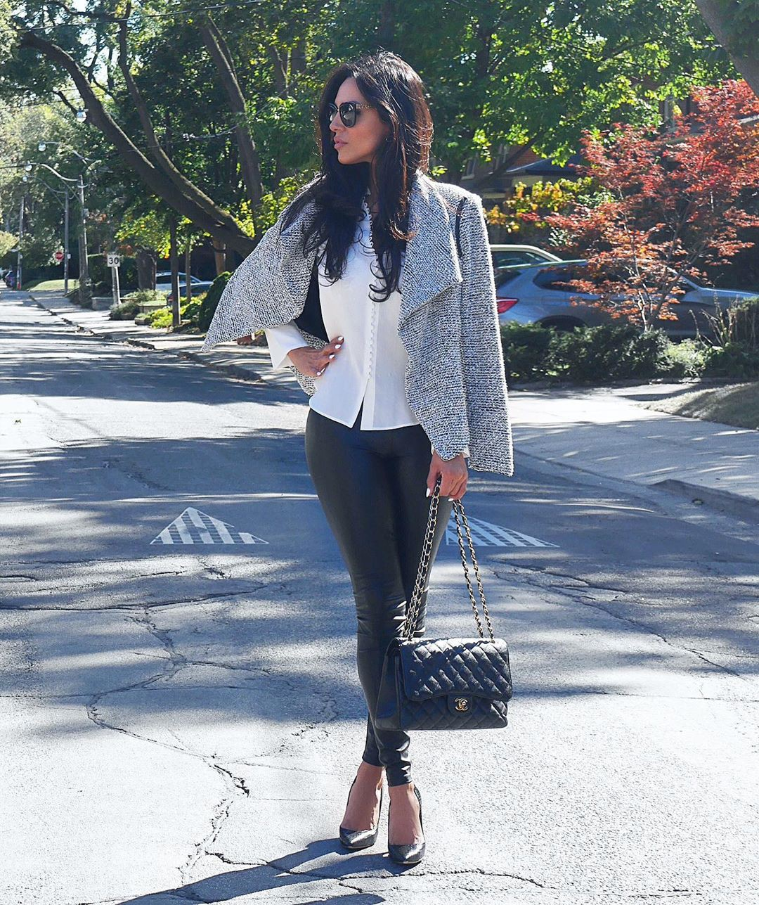 white trendy clothing ideas with jacket, blazer, denim