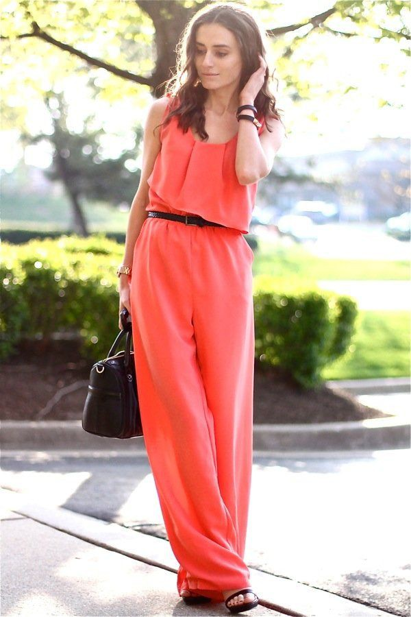 Orange and pink instagram fashion with wedding dress, swimsuit, trousers, shorts