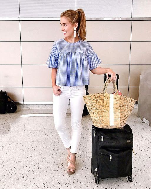 Southern prep spring outfits, street fashion, denim skirt, casual wear