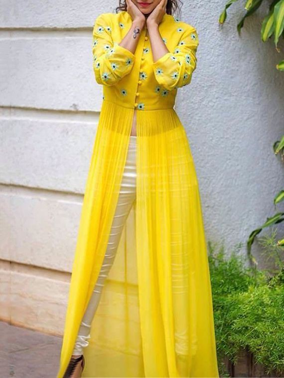 Yellow kurti design for haldi