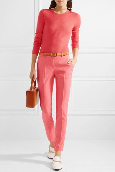 Magenta and pink clothing ideas with trousers, blouse