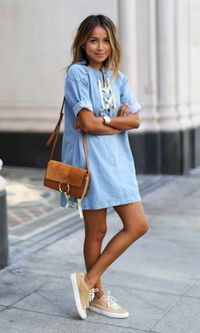 Colour outfit ideas 2020 outfit casual estate 2018, street fashion, denim skirt, casual wear