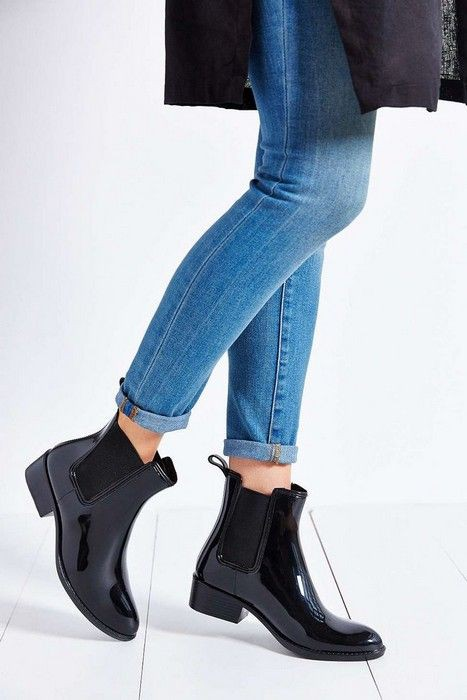 Chelsea rain boots outfit, jeffrey campbell, wellington boot, electric blue, chelsea boot, high  ...