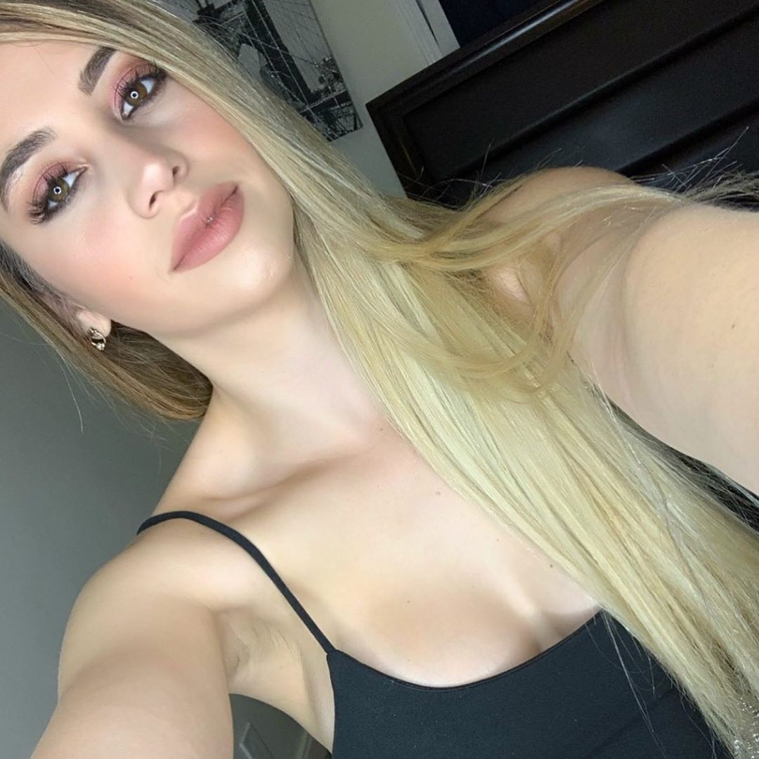 Mariam Olivera blond hairs, Lovely Face, Natural Glossy Lips