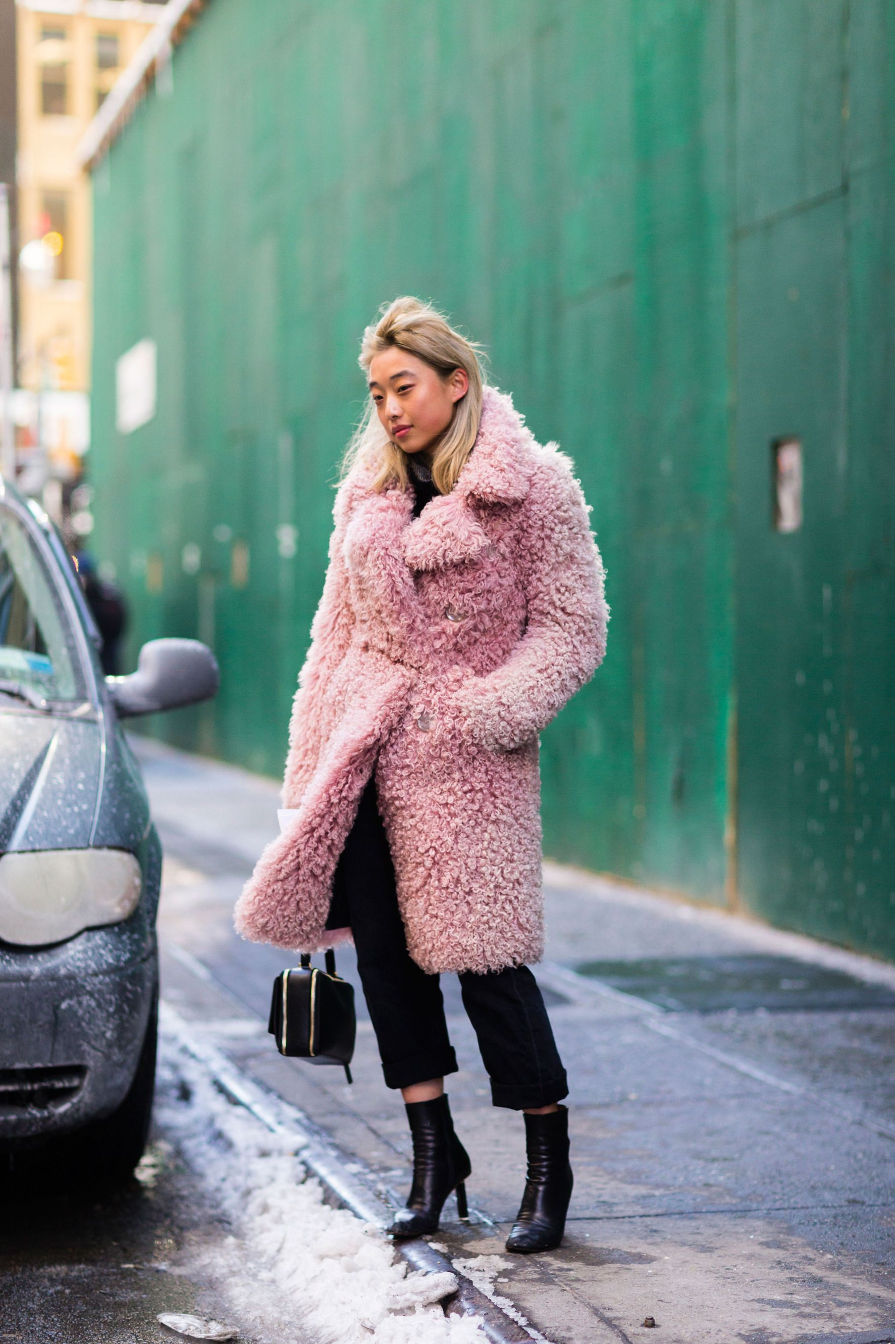 Margaret zhang fur coat, street fashion, fur clothing, fake fur