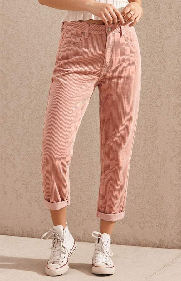 Outfit ideas corduroy mom jeans, active pants, casual wear, high rise, mom jeans