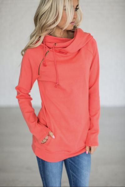 Orange and pink colour outfit, you must try with hoodie, jacket, jeans