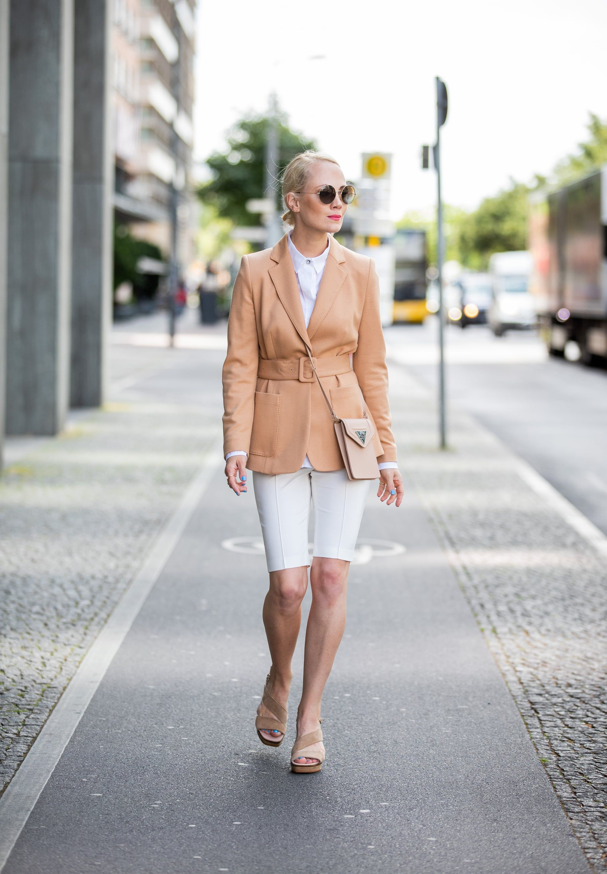 White and pink colour combination with cycling shorts, jacket, shorts
