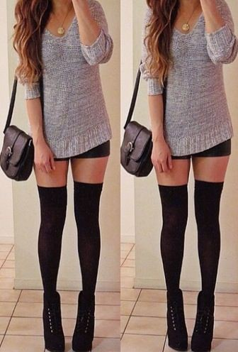 Thigh high sock outfits thigh high boots, casual wear