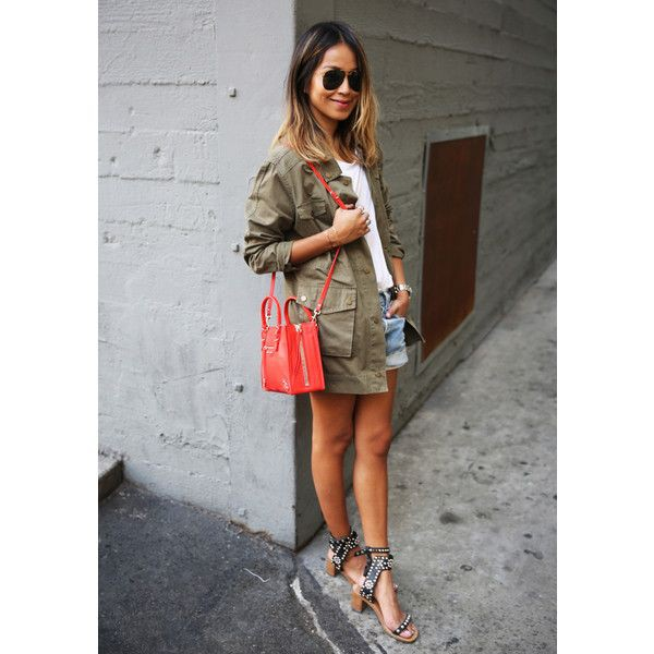 Military jacket summer street style