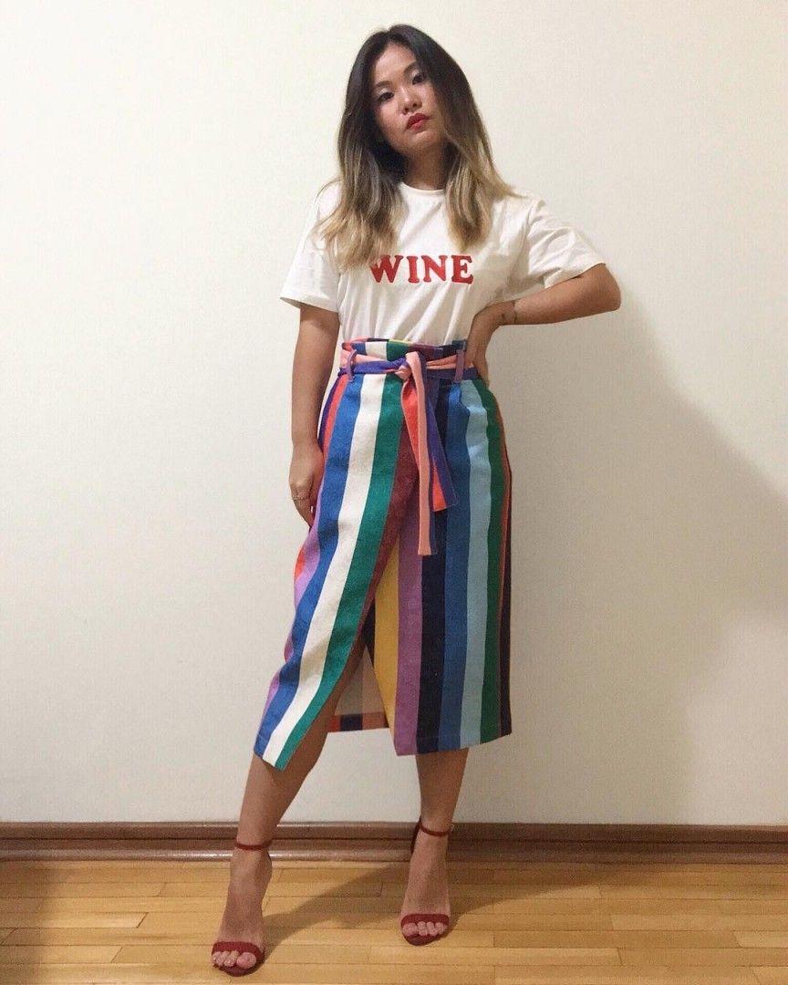 Look com saia transpassada, fashion accessory, saia transpassada