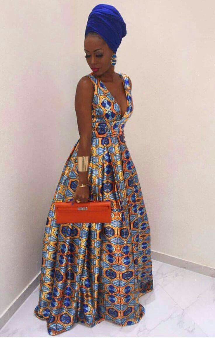 Classy outfit african kaba designs african wax prints, one piece garment, women in africa