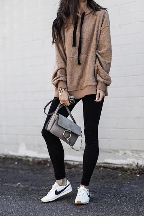 Black and white dresses ideas with sweatshirt, sportswear, leggings