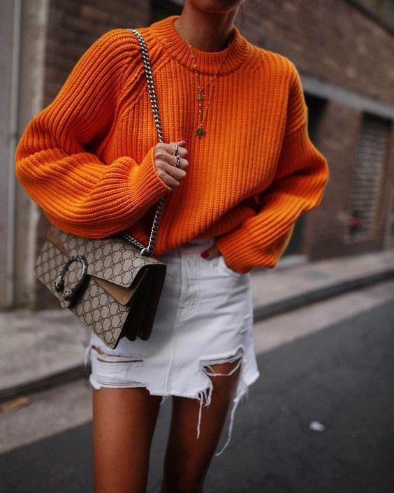 Gucci bag street style, gucci dionysus, street fashion, denim skirt