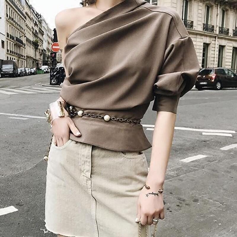Beige fashion nova dress with trench coat, blouse, skirt